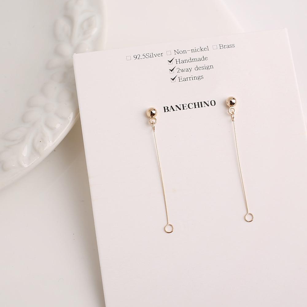 귀걸이침 심플스타일 제작 강선 티탄침 귀걸이 부자재 N-CC-0071