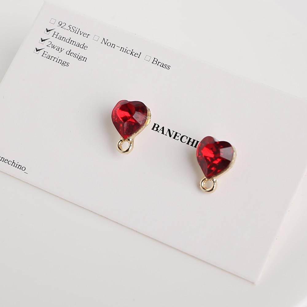 11mm 포인트 큐빅포스트 귀걸이 부자재 N-CC-0087