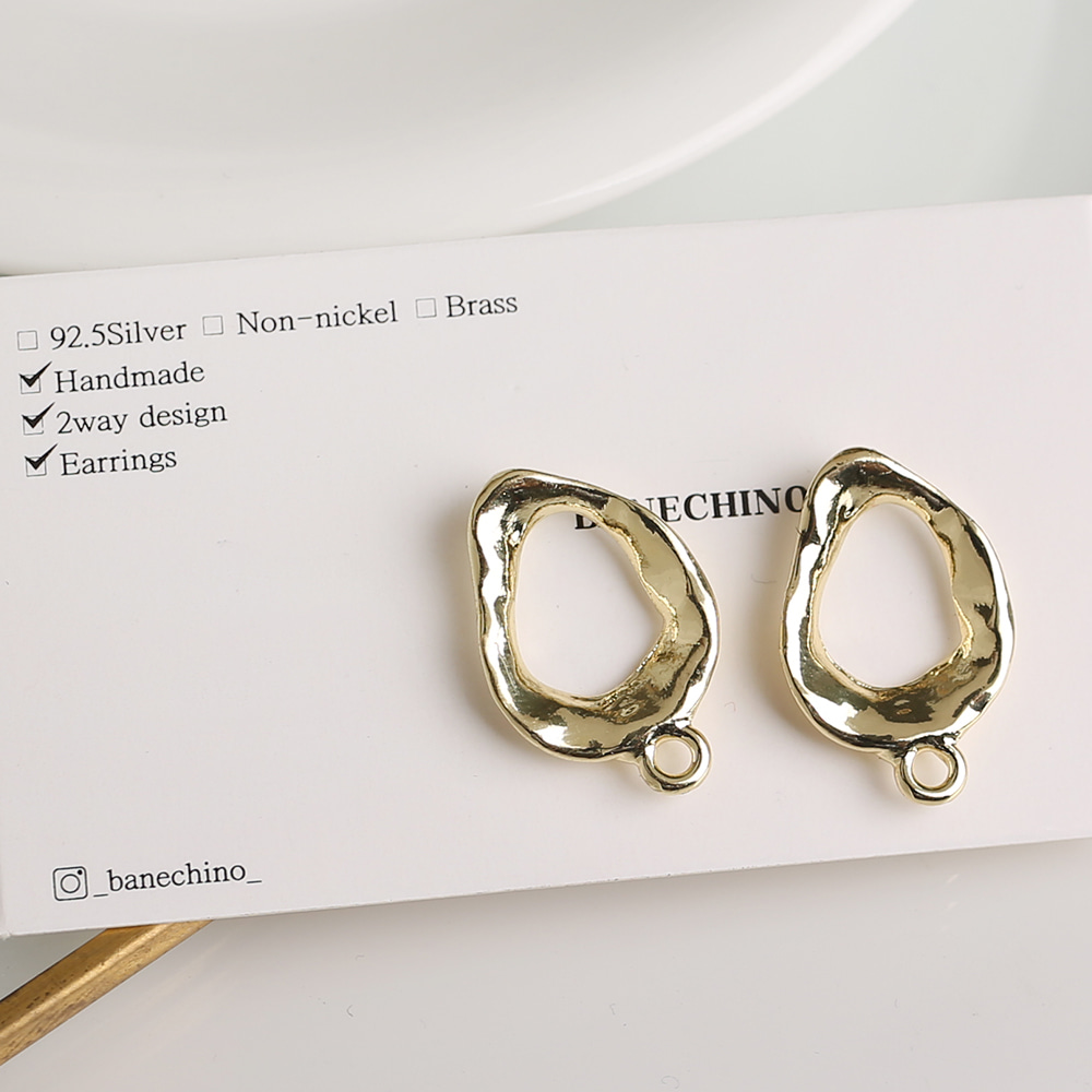 22mm 볼드형 라운드 포스트 귀걸이 부자재 N-CC-0103