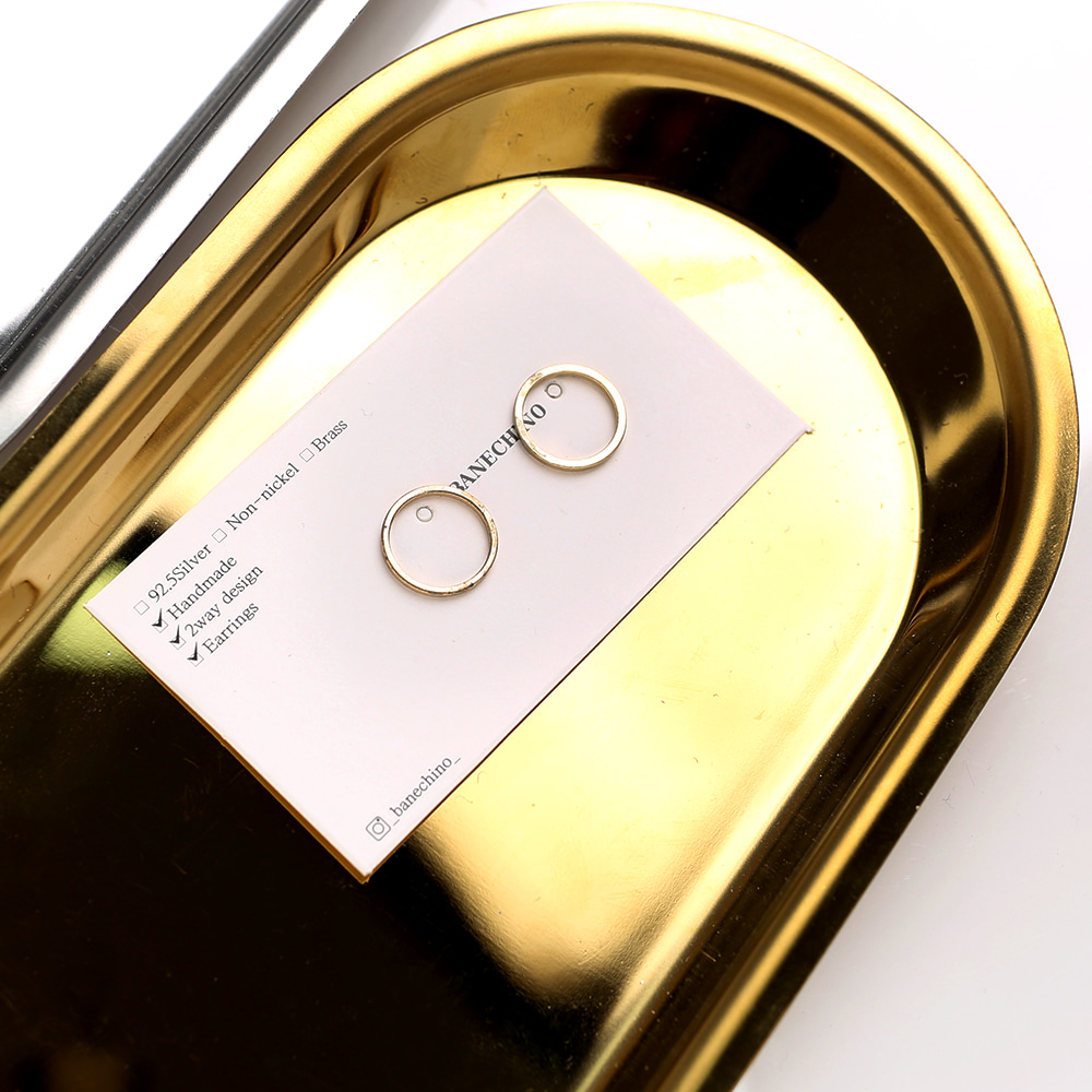 12mm 골드링 더블팬던트 킬링 귀걸이부자재 P-DQ-0012
