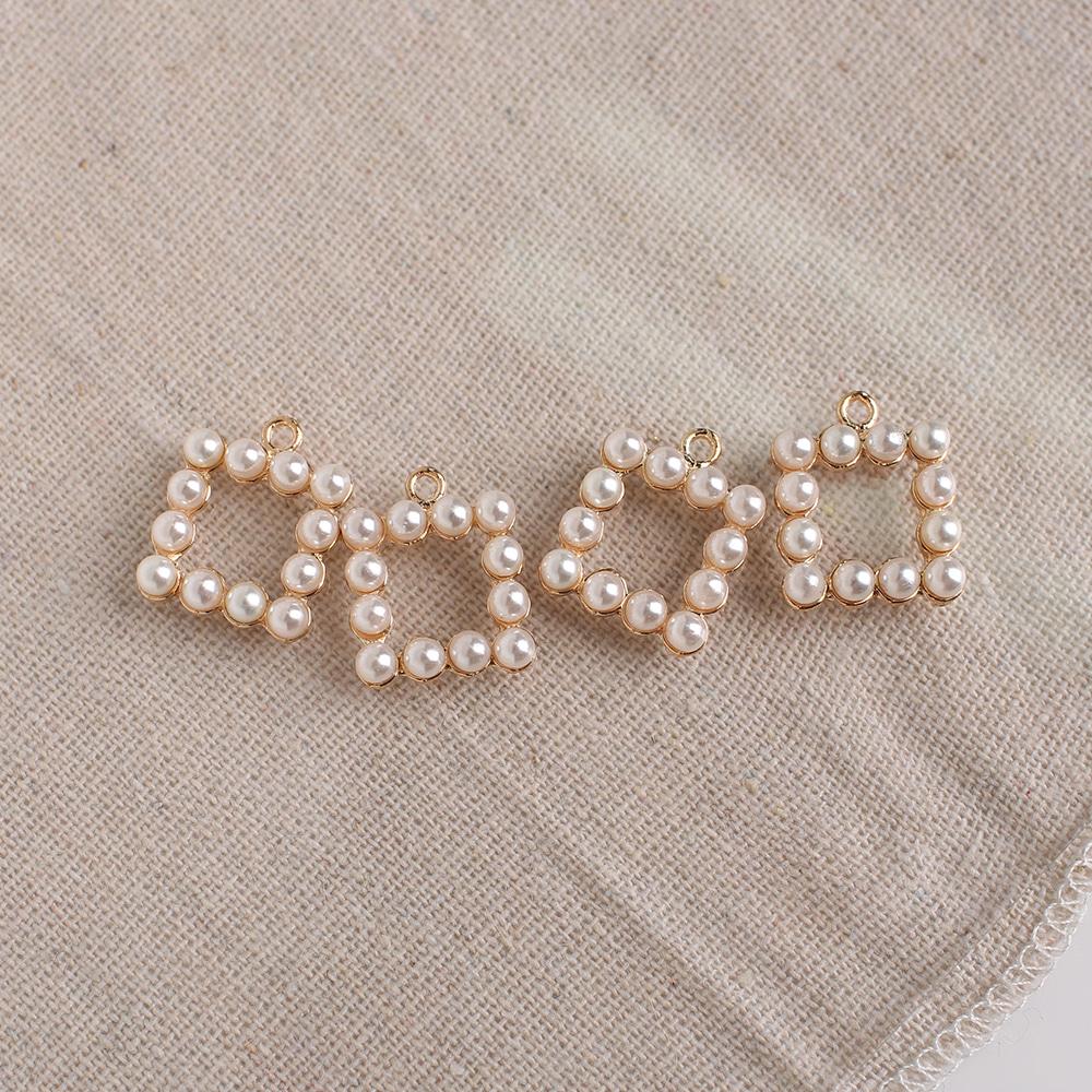 12진주 사각링 싱글팬던트 키링 귀걸이부자재 P-SP-0012