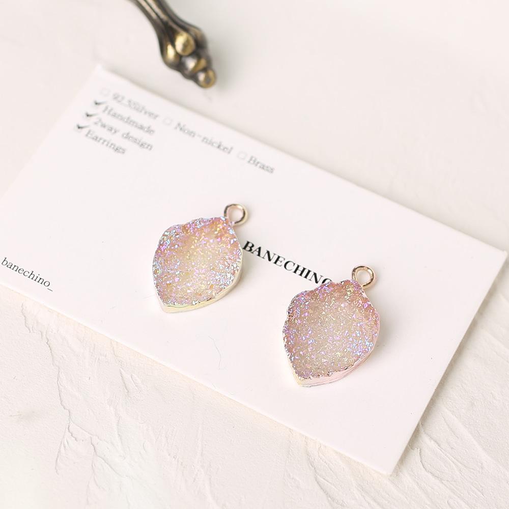 그라데이션 나뭇잎 싱글팬던트 귀걸이부자재 P-SS-0309