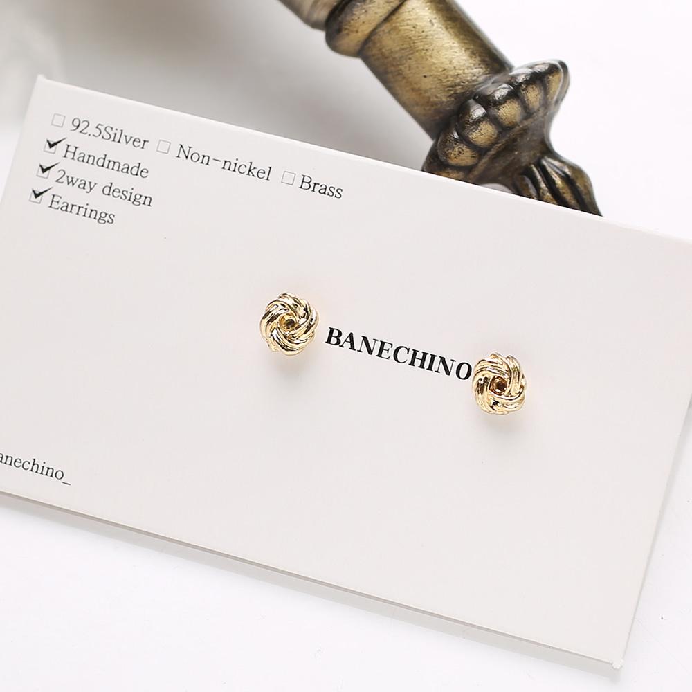 5mm 골드 트위스트 무니켈도금침 세트형 귀걸이부자재 S-FF-086